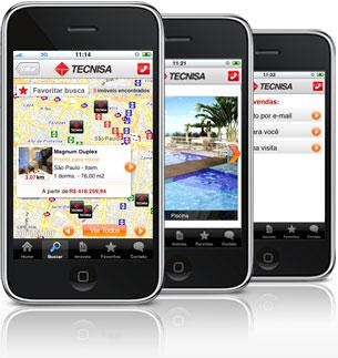 O aplicativo para iphone da Tecnisa está disponível na Apple Store