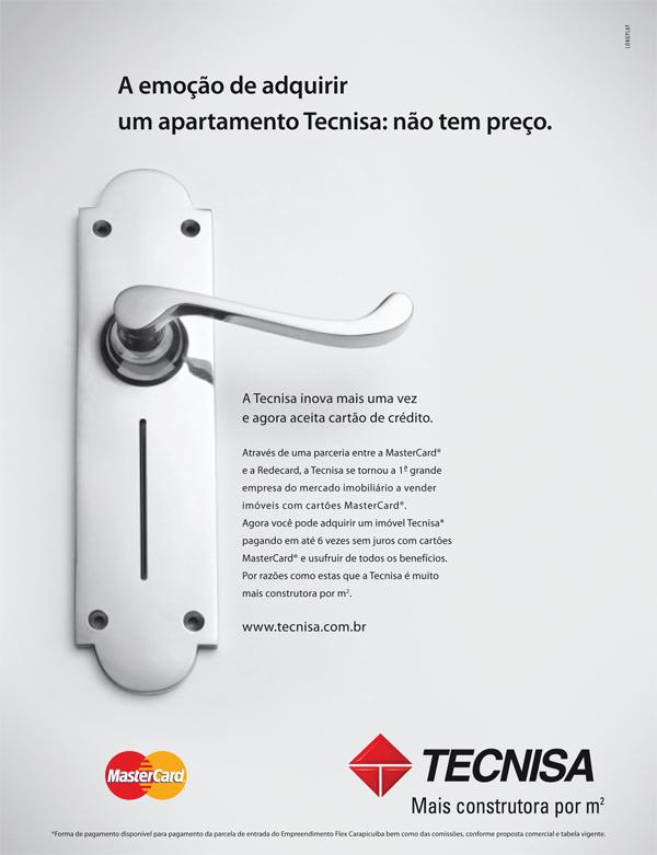 Anuncio Tecnisa sobre a parceria com a Redecard