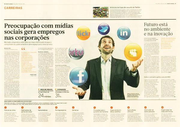 Brasil Econômico destaca a Tecnisa e o uso de redes sociais nas corporações