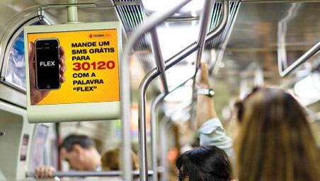 Tecnisa inicia campanha em metrô nos monitores da TV Minuto