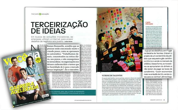 Ação de open innovation da Tecnisa em conjunto com Battle of concepts é destaque na revista Você SA