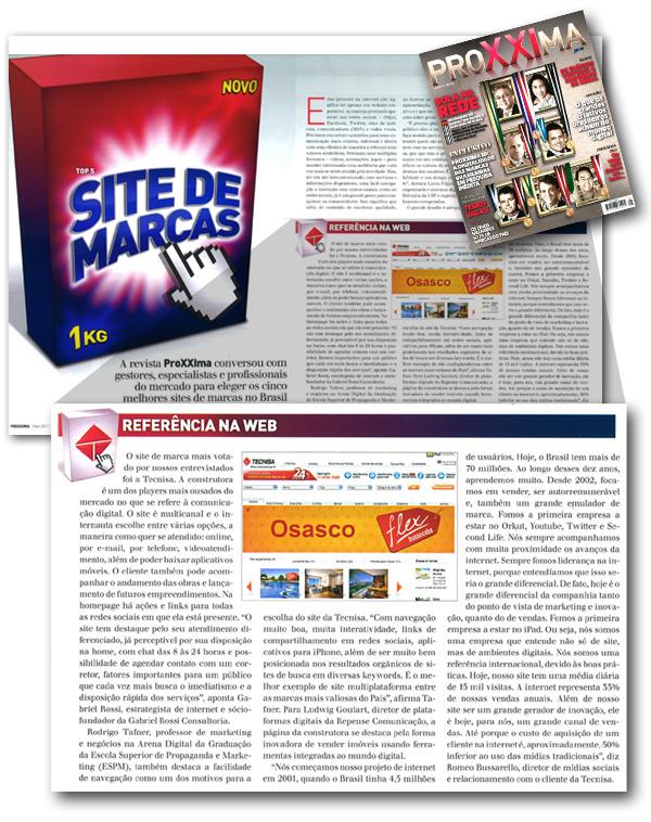 Site da TECNISA é considerado o melhor site de marca segundo a Revista Proxxima