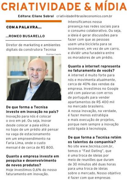 Criatividade & Mídia entrevista Romeo Busarello