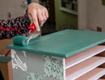 restaurar pintar móveis madeira rolinho tinta