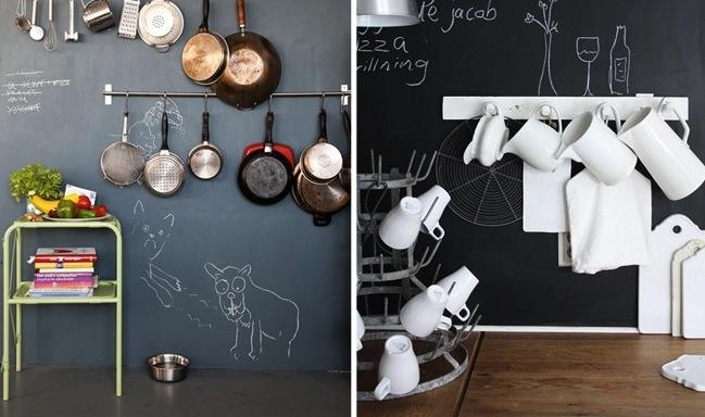 tinta lousa cozinha crianças criatividade parede