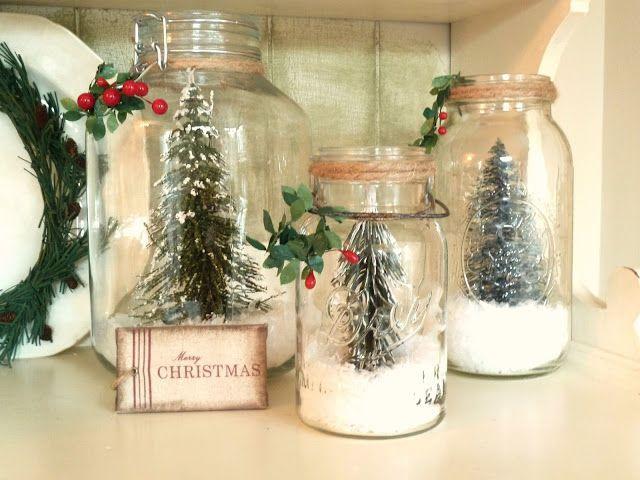 potes decorados com tema de natal