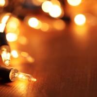 Natal, luz e os prédios da cidade