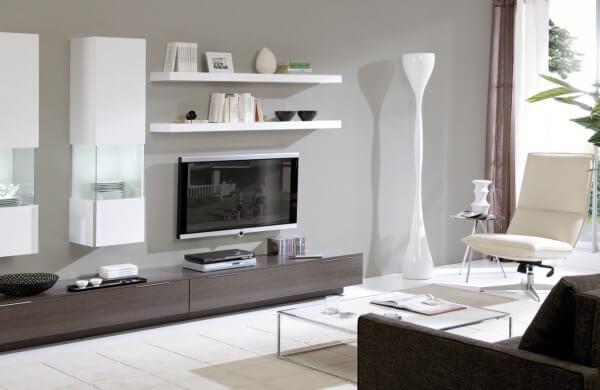 Decoracao De Sala Sofa Cinza ~ sala de tv decorada em preto, branco e cinza # decoracao de sala preto
