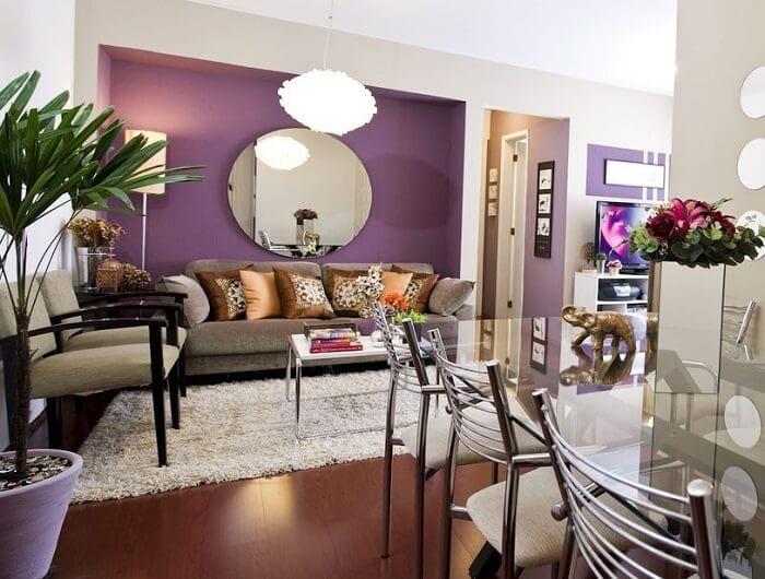 8 dicas de decoração violeta para sala: tendência em 2018