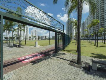 Portao do bairro planejado Jardim das Perdizes SP