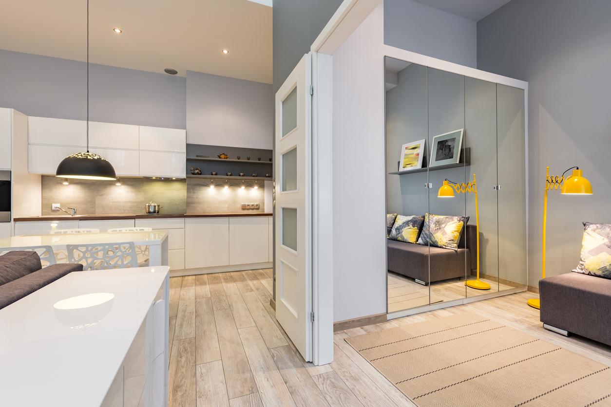 Foto de um apartamento com ambientes integrados