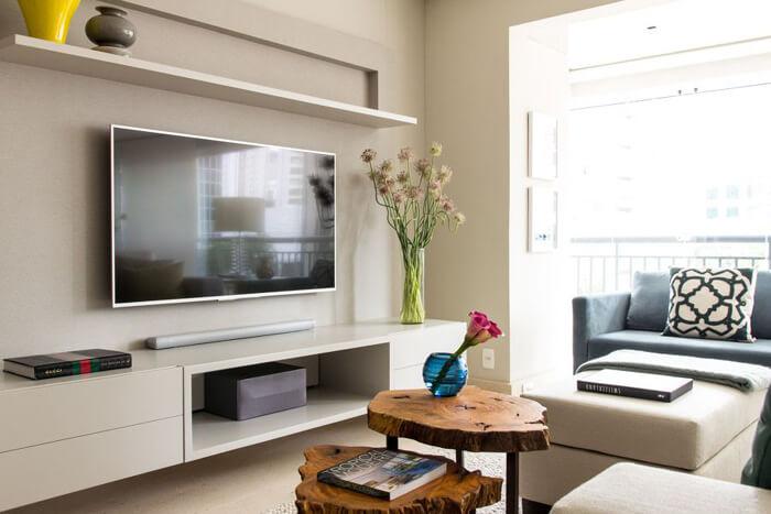 Painel para tv branco