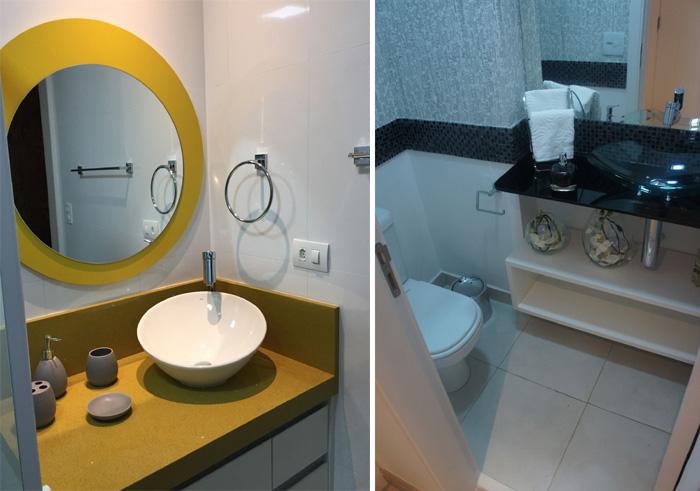 banheiro com cuba de apoio de mesa