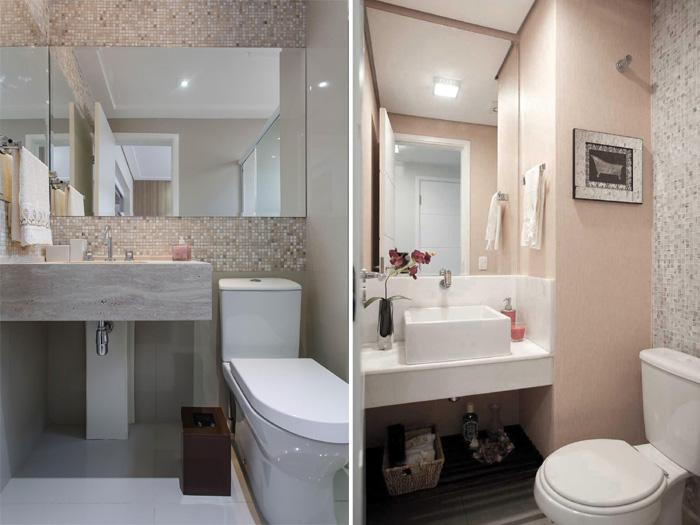 banheiro em tons neutros