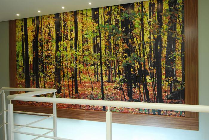 papel de parede com estampa de paisagem