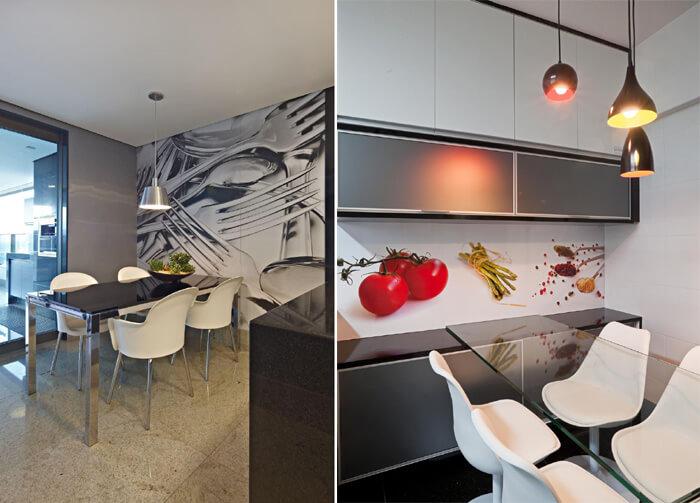cozinha e sala de jantar adesivado
