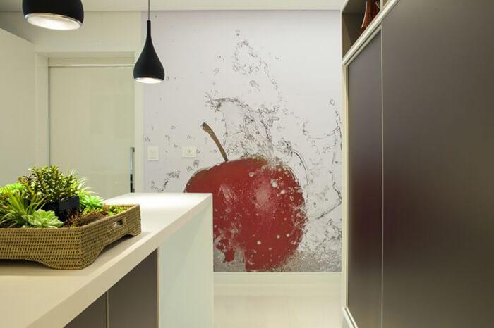 adesivo de cereja parede da dozinha