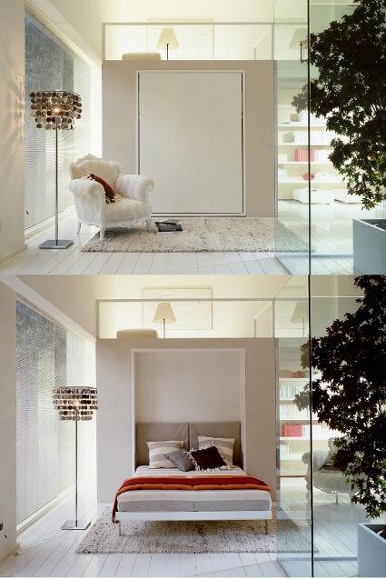 imagem de um quarto compacto