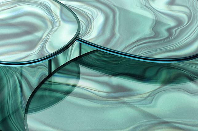 acabamento em vidro