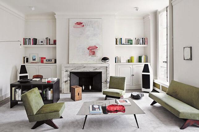 imagem de um sala moderna com toques classicos