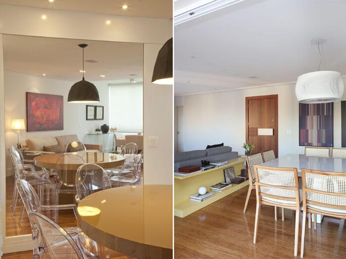 imagem de salas de jantar modernas, com coreus neutras