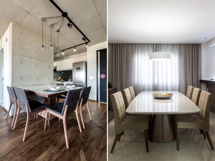salas de jantar com cadeiras modernas