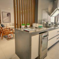 Cozinha decorada para apartamentos pequenos