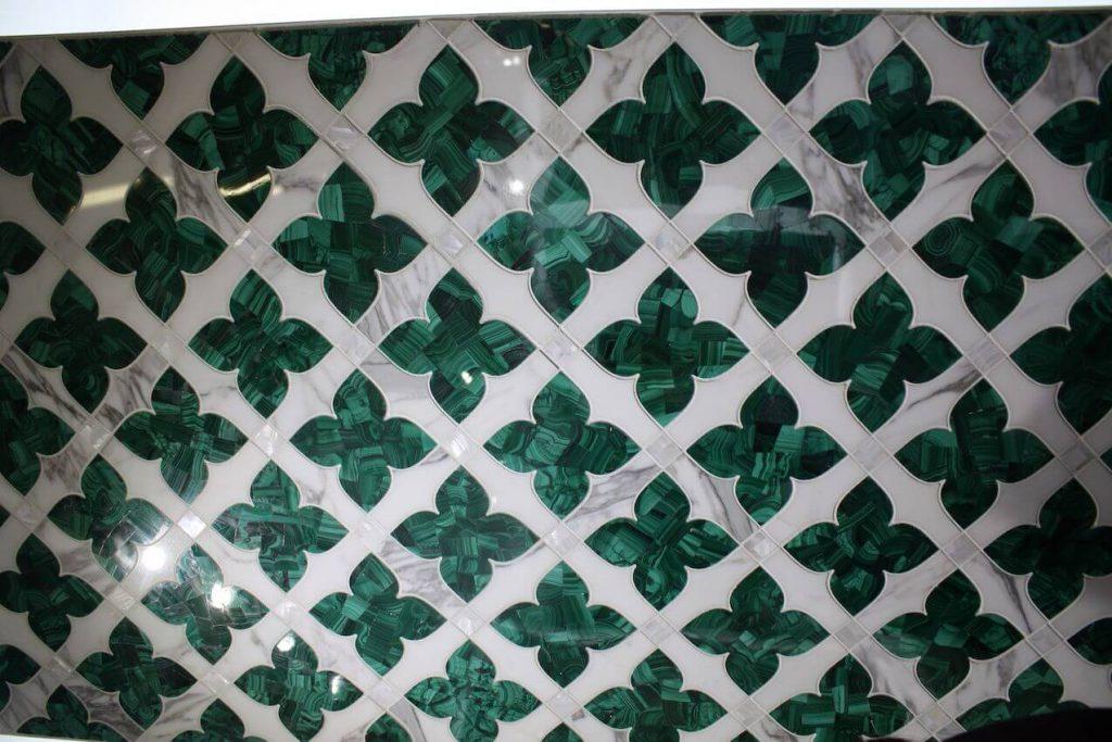 azulejo verde para decoração
