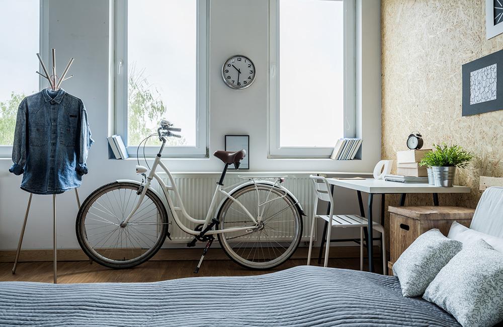 Quarto apartamento studio com bicicleta