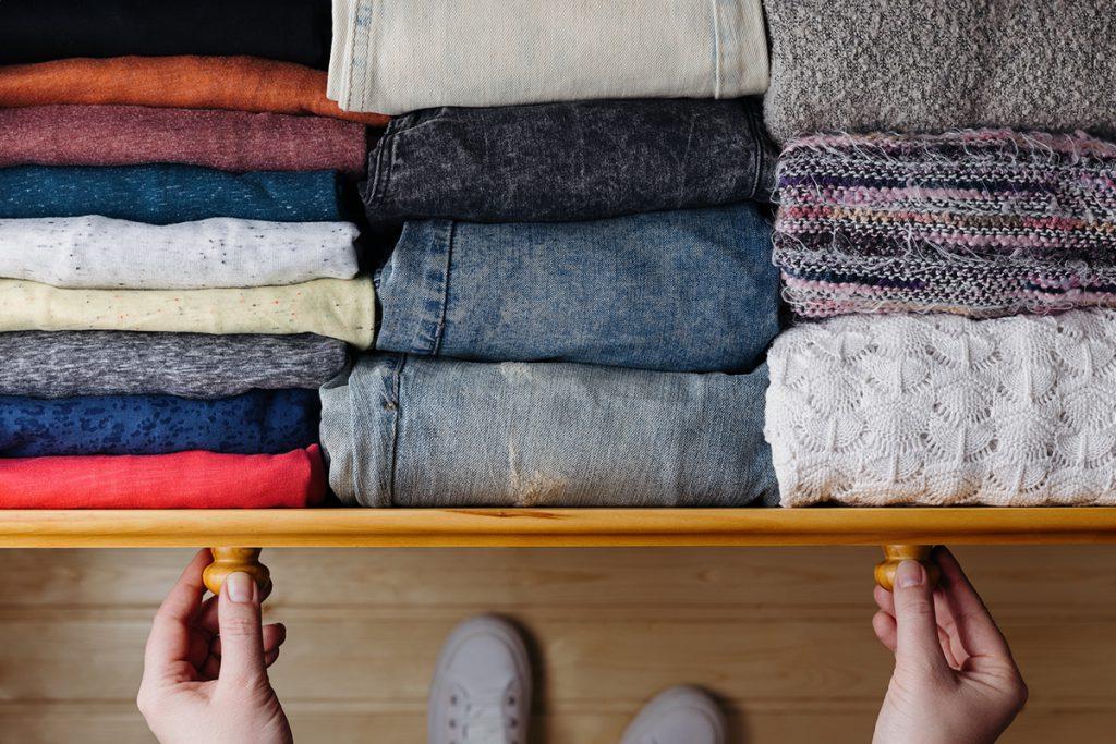 organização das roupas