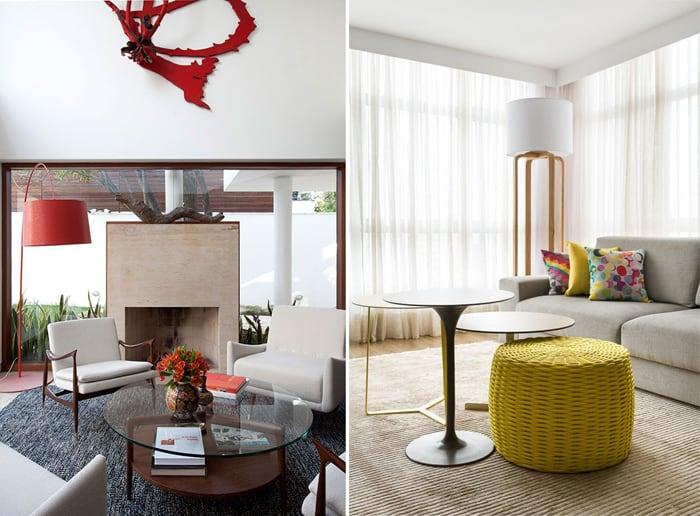 Imagem de duas salas de estar