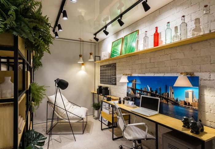 imagem de um escritório com uma decoração moderna