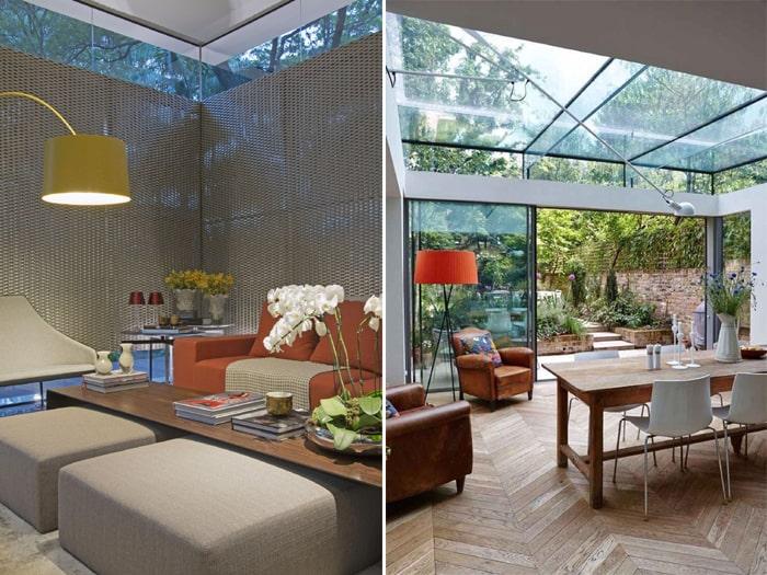 Imagem de duas salas com decoração despojadas