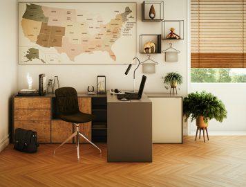 imagem mostra sala de escritório