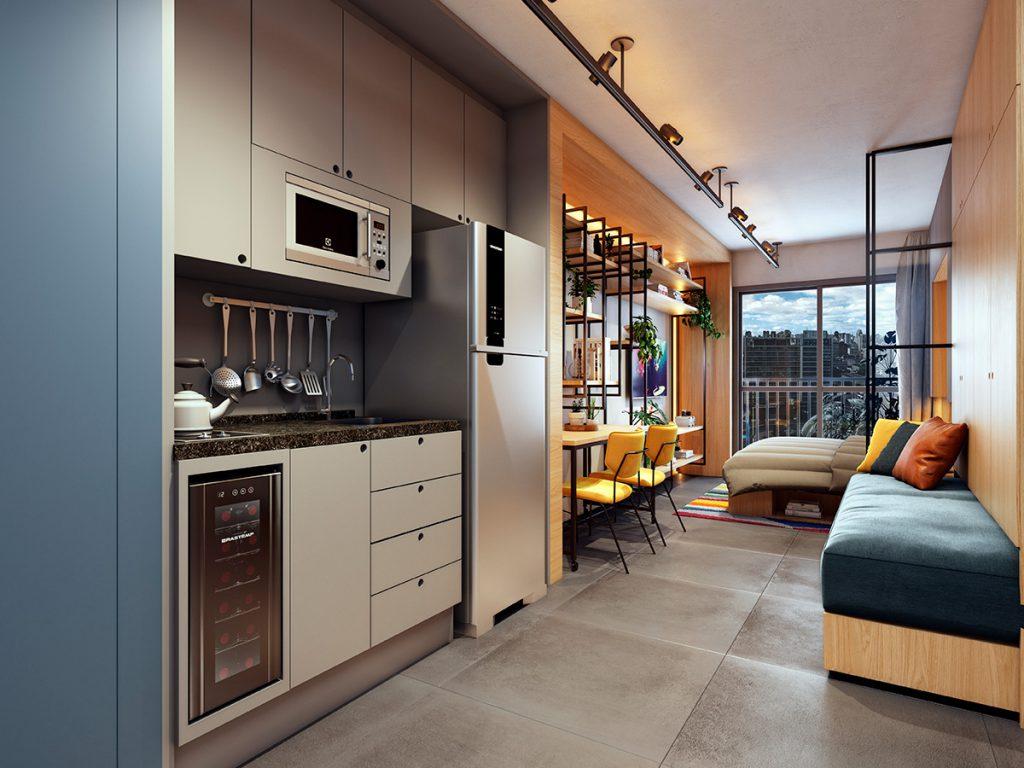 Imagem de uma cozinha  com uma decoração linda